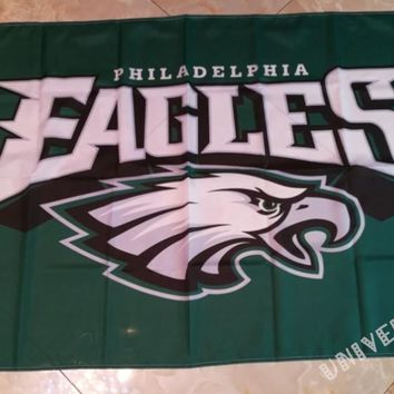 3ft x 5ft Philadelphia Eagles  flag with usa stripes banner 100D Digital Printing flag with 2 Metal Grommets