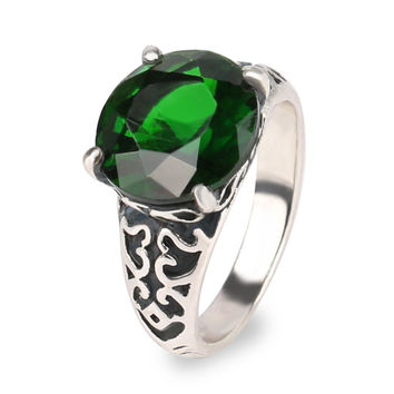 Green Lantern The Black Friday Ring 925 Sterling Silver Wedding Engagement Rings For Men And Women