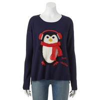 It's Our Time Penguin Ugly Christmas Sweater - Juniors