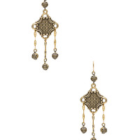 Vanessa Mooney The Lola Earrings in Brass