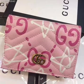 GUCCI WOMEN'S GG LEATHER WALLET