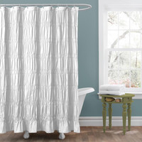 Lush Decor 'Emily' White Shower Curtain | Overstock.com Shopping - The Best Deals on Shower Curtains