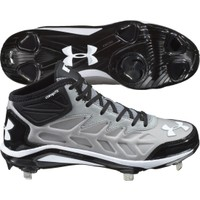 Under Armour Men's Yard Mid St Baseball Cleat - Gray/Black | DICK'S Sporting Goods