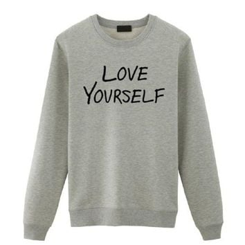 DCCKR2 [Love yourself] fashion young women letter sweater
