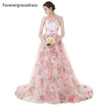 Forevergracedress Beautiful Prom Dress Colorful Sleeveless Long Lace Up Back Formal Party Gown Plus Size Custom Made