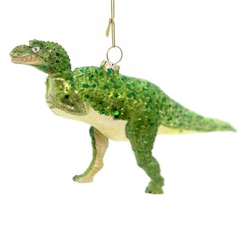 Holiday Ornaments Dinosaur Glass Ornament