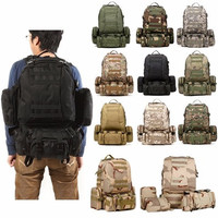 55L 1000D Tactical Outdoor Molle Assault Military Rucksacks Backpack Hiking Camping Traveling Bag [9302582090]