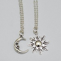 Sun and Moon Friendship Necklaces BFF Jewelry