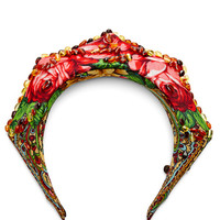 Traditional Fabric and Amber Stone Headpiece by Masterpeace - Moda Operandi