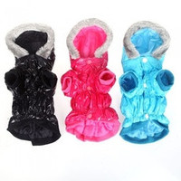 Waterproof Warm Pet Dog Clothes Apparel Hoodie Hooded Coat for Winter H9994BL [8384288583]