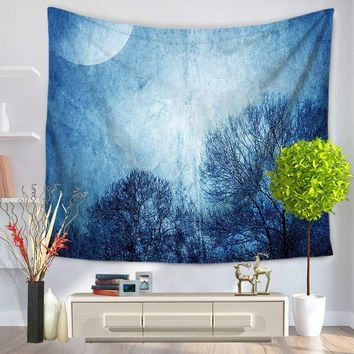 Starry Sky Polyester Indian Mandala Tapestry Wall Hanging Throw Blanket Bedspread Yoga Mat Home Decor Table Cloth 150*130cm