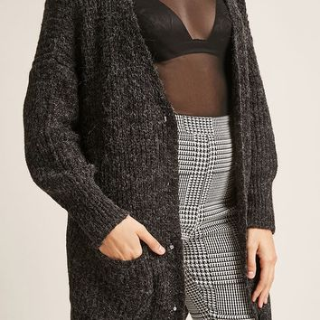 Free Generation Lace-Up Hooded Cardigan
