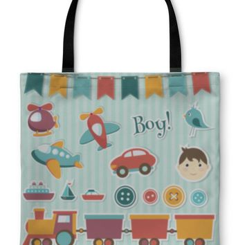 Tote Bag, Scrapbook Baby Boy Set