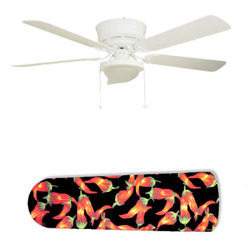 "Red Hot Chili Peppers Chiles 52"" Ceiling Fan and Lamp"