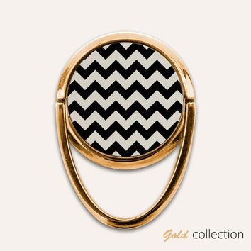 Gold Chevron Phone Ring Finger Holder Mount Stand Grips