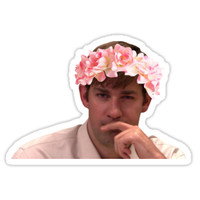 'Jim Adorned with the Hottest of Flower Crowns' Sticker by TellAVision