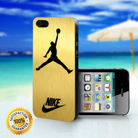 Nike Jordan Gold - For iPhone 4/4s, iPhone 5, iPhone 5s, iPhone 5c case. Please choose the option