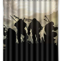 "66"" x 72"" Ninja Turtles Shower Curtain"
