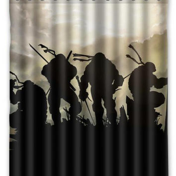 66 X 72 Ninja Turtles Shower Curtain