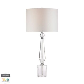 Crystal Batton Table Lamp - with Philips Hue LED Bulb/Dimmer