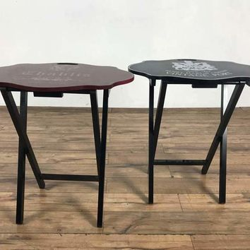 Pair of Painted Wood Folding Tables