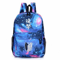 Attack On Titan Galaxy Print Backpack