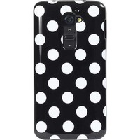 Fosmon - DURA-POLKA Design Polka Dot Protective Slim Fit TPU Case for LG G2 / Optimus G2 / AT&T / T-Mobile