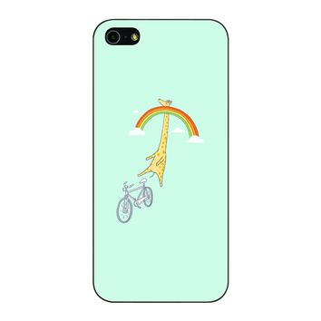Giraffe Rainbow Bike iPhone 5/5S/SE Case