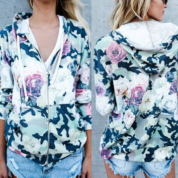 Flower Pocket Hoody coat