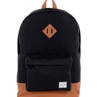 HERSCHEL SUPPLY CO HERITAGE BACKPACK IN BLACK