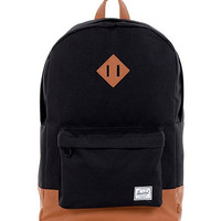 HERSCHEL SUPPLY CO HERITAGE BACKPACK IN BLACK/TAN