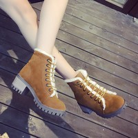 Hot Deal On Sale Cotton Shoes Winter Flat Thicken Boots [11593329287]
