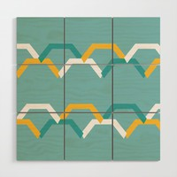 Teal Steps Wood Wall Art by spaceandlines