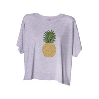 A Pineapple A Day Crop Tee