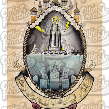 Bioshock Inspired Tattoo Design - Lighthouse - Digital Copy