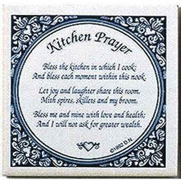 Decorative Wall Plaque: Kitchen Prayer Tile