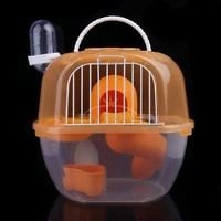2 Level Clear Plastic Hamster Gerbil Mouse House Pets Rat Cage Nest Bed New&Hot