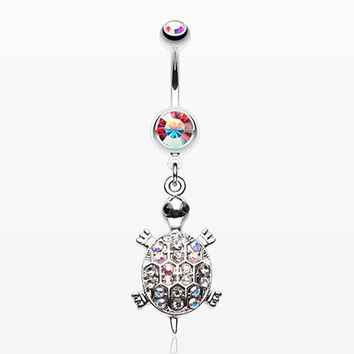 Turtle Dazzle Belly Button Ring