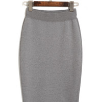 Bodycon Slit Mini Skirt