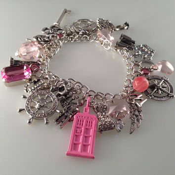 Exclusive Doctor Who Pink and Precious Charmed Interpreted Bracelet