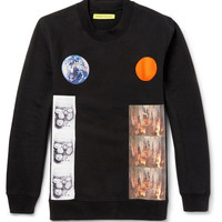 Raf Simons - Planet-Collage Printed Cotton Sweatshirt | MR PORTER
