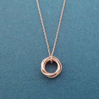 Karma, Triple, Chain, Ring, Gold, Silver, Rose gold, Necklace, Birthday, Best friends, Sister, Gift, Jewelry