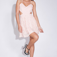 LUST Flowers Dress - Baby Pink