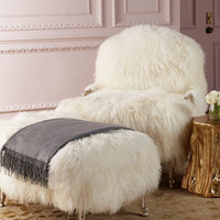 NM EXCLUSIVE Worthen Sheepskin Chair & Ottoman