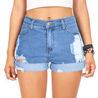 Destroyed Classics High Waist Shorts