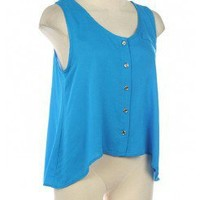 BUTTON DOWN TRENDY TOP @ KiwiLook fashion