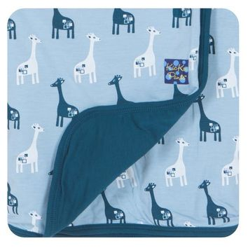 Kickee Pants Our Animal Friends Collection Print Stroller Blankets