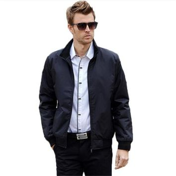 Trendy 2018 Spring Autumn Casual Bomber Jacket Men Stand Slim Business College Clothes Summer Thin Windbreaker Coat Varsity Jackets 4XL AT_94_13