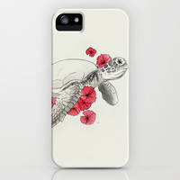Turtle iPhone & iPod Case by Celia Libelle