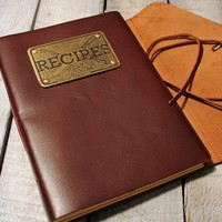 Recipe Book- Chef Leather Bound Journal